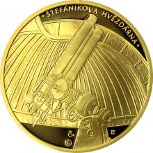 Zlatá půluncová medaile Založení České astronomické společnosti 2017 Proof