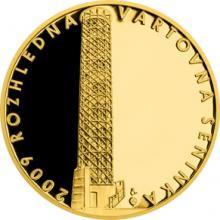 Zlatá čtvrtuncová medaile Rozhledna Vartovna 2018 Proof