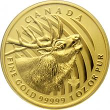 Zlatá investičná minca Elk 1 Oz 2017 (.99999)