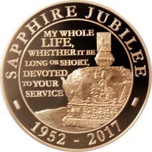 Zlatá mince Safírové výročí Elizabeth II. 2017 Proof