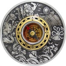 Stříbrná mince 2 Oz Kompas 2017 Antique Standard