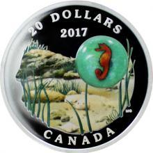 Stříbrná mince Mořský koník 1 Oz Under the Sea 2017 Proof