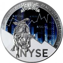 Stříbrná mince 250g New York Stock Exchange 200. výročí 2017 Proof