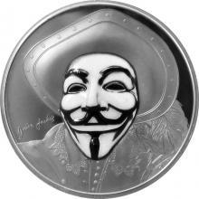 Stříbrná mince Anonymous V jako Vendeta 1 Oz 2017 Proof
