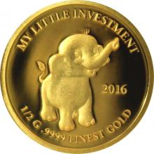 Zlatá mince My little investment - Slon 2016 Proof