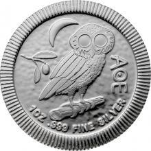 Stříbrná investiční mince Athénina Sova 1 Oz