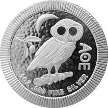 Stříbrná investiční mince Athénina Sova 1 Oz 2017