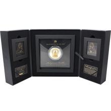 Stříbrná mince 3 Oz se zlatou 1/4 Oz inlejí Shakyamuni Buddha 2017 Krystaly Proof