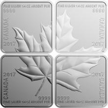 Sada stříbrných mincí Maple Leaf Quartet 2017 Proof