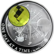 Stříbrná mince Crystal Coin - One Day at a Time - Sahara 2017 Proof