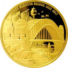 Zlatá mince Sydney Harbour Bridge 1 Oz 2017 Proof