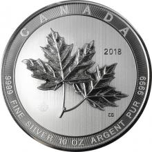 Stříbrná investiční mince Magnificent Maple Leaf 10 Oz