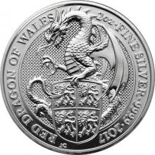 Stříbrná investiční mince The Queen's Beasts Red Dragon 2 Oz 2017