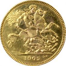 Zlatý Sovereign Královna Viktorie 1905