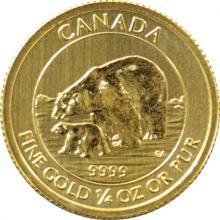 Zlatá investičná minca Polar Bear and Cub 1/4 Oz 2015