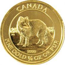 Zlatá investičná minca Arctic Fox 1/4 Oz 2014