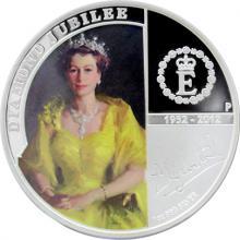 Stříbrná mince Diamantové výročí Elizabeth II. 2012 Proof
