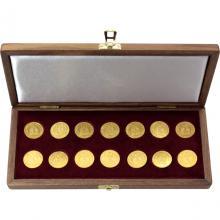Sada zlatých mincí Svätý Václav Jednodukát Československý 1923 - 1936