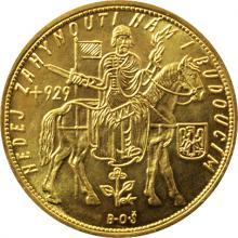 Zlatá minca Svätý Václav Desaťdukát Československý 1935