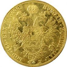Zlatá mince 4-Dukát Františka Josefa I. 1883