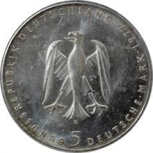 Stříbrná mince 5 Marka Heinrich von Kleist 1977
