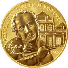 Zlatá mince 100 EUR Raphael Donner 2002
