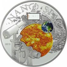 Stříbrná mince Nano Space - Exploration of the Universe 2013 Proof