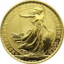 Zlatá investiční mince Britannia 30. výročí 1 Oz 2017