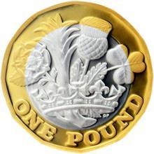Stříbrná mince The New Pound 2017 Proof
