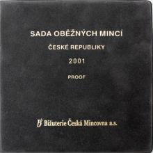Sada oběžných mincí 2001 Proof/semiš