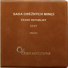 Sada oběžných mincí 2007 Proof/semiš