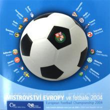 Sada oběžných mincí ČR - ME ve fotbale 2004 Standard