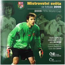 Sada oběžných mincí ČR - MS ve fotbale 2006 Standard