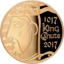 Zlatá mince Knut Veliký 1000. výročí korunovace 2017 Proof
