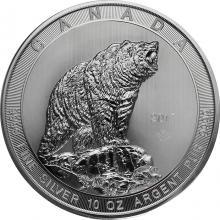 Stříbrná investiční mince Grizzly 10 Oz 2017
