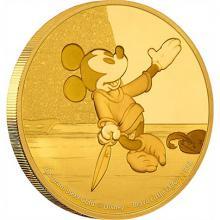 Zlatá mince Mickey Mouse - Brave Little Tailor 2016 Proof