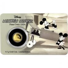 Zlatá mince Mickey Mouse - Plane Crazy 2016 Proof