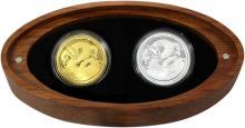 Taniwha Maori Art Sada zlaté a stříbrné mince 2017 Proof