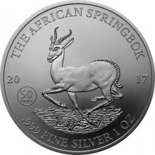 Stříbrná investiční mince The African Springbok 1 Oz