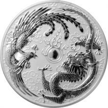 Stříbrná investiční mince Drak a Fénix 1 Oz 2017