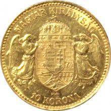 Zlatá mince Desetikoruna Františka Josefa I. Uherská ražba 1909
