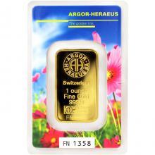 31,1g Argor Heraeus Following Nature - Jaro 2017 investiční zlatý slitek