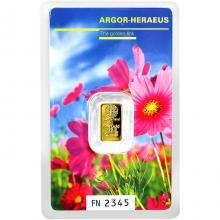 1g Argor Heraeus Following Nature - Jaro 2017 investiční zlatý slitek