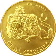 Zlatá pětiuncová investiční mince Český lev 2017 Standard