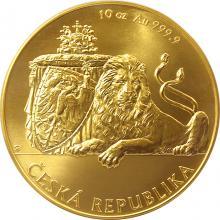 Zlatá desetiuncová investiční mince Český lev 2017 Standard