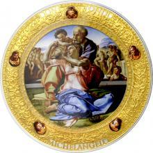Stříbrná mince 2 Oz Michelangelo - Doni Tondo Perfection in Art 2016 Proof