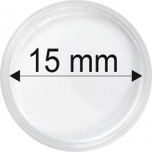 Plastové kapsule na mince o priemere15 mm - 10 ks