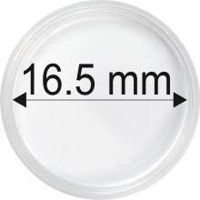 Plastové kapsule na mince o priemere 16,5 mm - 10 ks