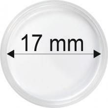 Plastové kapsle na mince o průměru 17 mm - 10 ks