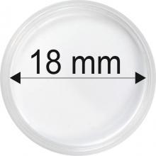 Plastové kapsle na mince o průměru 18 mm - 10 ks